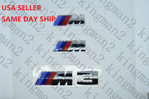 Bmw M Set Of 3 Chrome M Power Perform Badge Fender And Trunk Lid Emblem M3