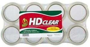 Duck Hd Clear 8 pack 1 88 in X 54 6 yard Clear Packing Tape