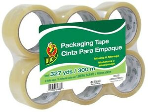 Duck 6 pack 1 88 in X 54 6 yard Clear Packing Tape