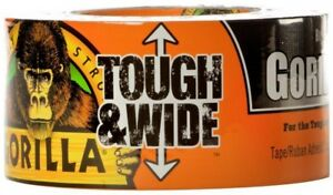 Gorilla Tough And Wide 2 88 in X 90 Black Duct Tape