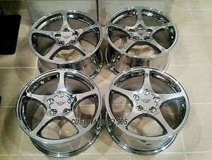 Chrome C5 Thin Spoke Corvette Wheels 18x9 5 Combo Set Fits C4camaro Firebird