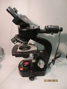Wild Heerbrugg M20 Microscope W Objectives Eyepieces Illuminator