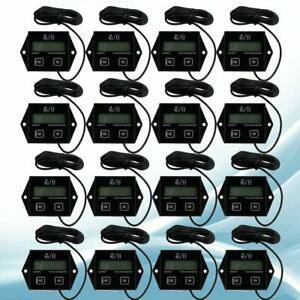 50 100x Digital Engine Tach Tachometer Hour Meter Inductive For Motorcycle Motor