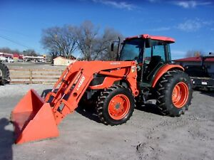 Kubota M9540 4x4 Cab Tractor W Loader low Hours Can Ship 1 85 Loaded Mile