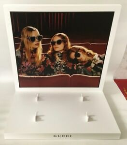 Gucci Eyewear Display Holds 4 Pairs Of Glasses New