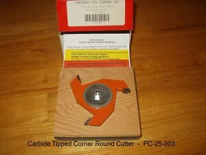 Freeborn Pro line Wood Shaper Cutters Pc 25 003 Carbide Tipped New