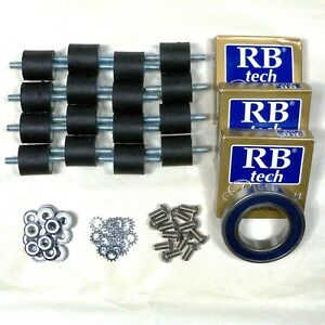4 Sets Base Plate Bearing And Rubber Spring Kit 50736a 10666a Clarke Obs 18