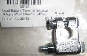 Battery Terminal Clamp Negative Military Spec Ms75004 2 Also A52425 2 Made In