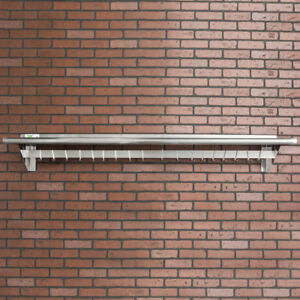 Regency 12 X 72 Stainless Steel Wall Mounted Pot Rack With Shelf And 18 Hooks