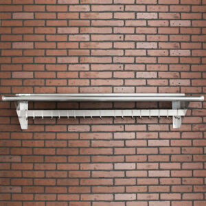 Regency 15 X 60 Stainless Steel Wall Mounted Pot Rack With Shelf And 18 Hooks
