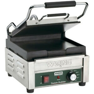 Waring Wfg150 Tostato Perfetto Smooth Top Bottom Panini Sandwich Grill 120v