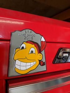 Chief Wahoo Tribute Emblem Magnet For Your Snapon Toolbox 4 1