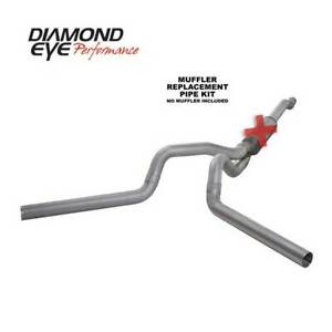 Diamond Eye Dual 4 Cat back Exhaust No Muff For Ford Powerstroke 6 0l 4x4 03 07