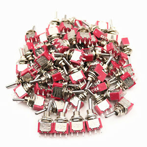 50pcs Sh T8013 3 Pins On on Spdt 2position Maintained Mini Toggle Switch