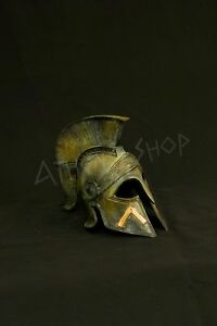 Ancient Greek Bronze Spartan Helmet Leonidas