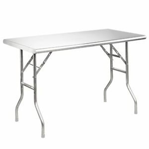 Openbox Royal Gourmet Stainless Steel Folding Work Table 48 L X 24 W