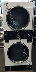 Speed Queen Stt30nbc Stack Dryer White Coin 120v 1ph Reconditioned