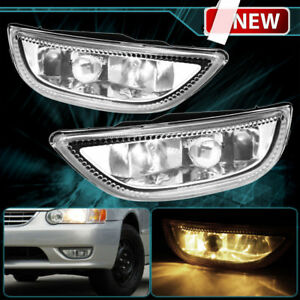 1pair Clear Front Bumper Driving Fog Light For 2001 02 Toyota Corolla Usa Fast