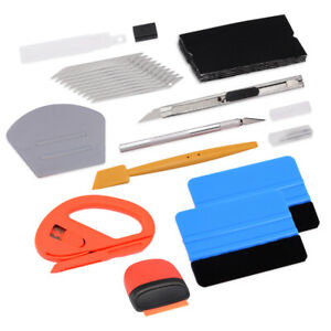 Auto Car Window Tint Vinyl Wrap Install Application Tool Kit Felt Squeegee Us