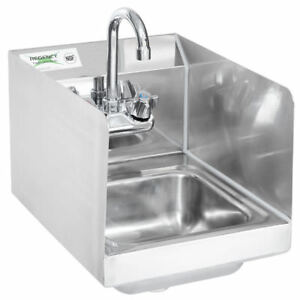 12 X 16 Wall Mount Sink Hand Wash Commercial Restaurant Stainless Steel Nsf S