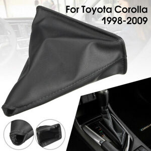 Pu Leather Gear Shift Knob Stick Boot Gaiter Cover For Toyota Corolla 1998 2009