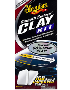 Meguiars Smooth Surface Detailing Clay Bar Kit Removes Surface Contamina