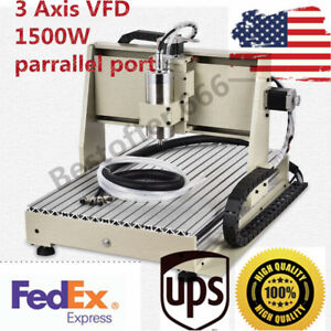 6040 3 Axis Mach3 1 5kw 1500w Vfd Cnc Router Engraving Milling Machine Wood 110v