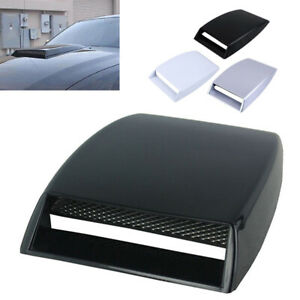 Universal Car Decorative Air Flow Intake Hood Scoop Vent Bonnet Abs Engine Cover