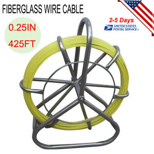 Fish Tape Fiberglass Wire Cable Running Rod Duct Rodder Puller Labor Saving Usa