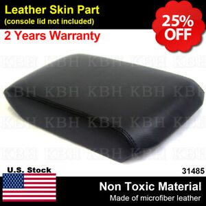 Leather Armrest Center Console Lid Cover Fits Toyota 4runner 2010 2018 Black