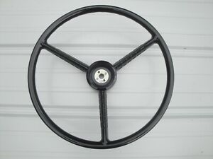 56 57 58 59 60 Ford Truck F100 F250 Steering Wheel 18 In Black Only New