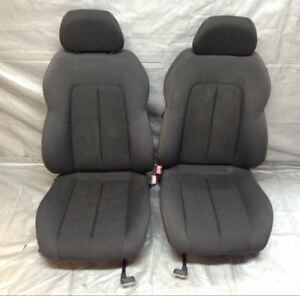 2005 2007 Chrysler Crossfire Oem Black Cloth Manual Bucket Seats Pair Cf013
