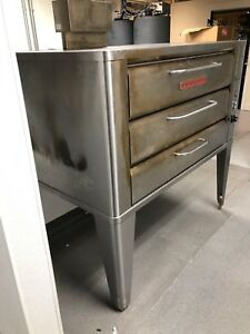 Blodgett Double Deck Pizza Oven Natural Gas Model 981 Like New