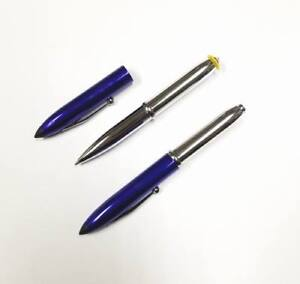 Lot Of 24 Pens Pointer Style Metal Pen With Led Flashlight Tip blue