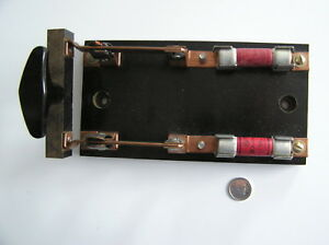 Large Vintage Electrical Knife Throw Switch Double Pole Steampunk Creation