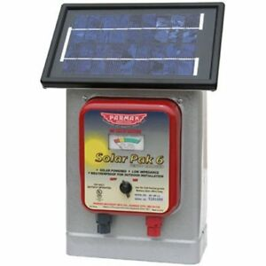 New Parmak 6 Volt Solar Battery Powered Operated 25 mile Electric Fence Charger