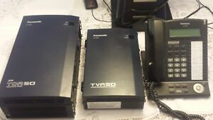 Panasonic Kx tda50 Hybrid Ip pbx Kx tva50 Voice Processing System 5 Phones