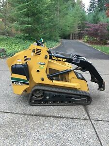 S725tx Vermeer Mini Track Loader Skid Steer 2 Attachments