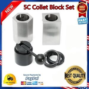 New 5c Collet Block Set Square Hex Rings Collet Closer Holder As