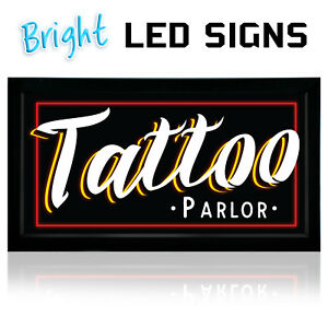 Tattoo Led Neon Sign Parlor 12 x 24 New Bright Led Sign Store Sign Business