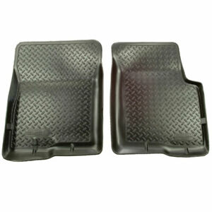 Husky Classic Style Front Floor Mats Blk For Ford Bronco f 150 f 250 f 350 80 97