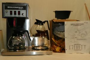 Newco Commercial Ak 3 Coffee Maker With 3 Coffee Pots filters Coffee Manual