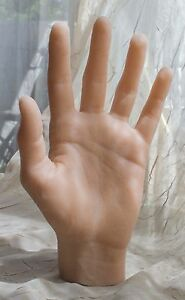 Left Female Silicone Mannequin Hand Display Model Prop Lifesize