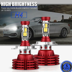 H4 9003 Hb2 Osram Led Headlight Bulbs Kit 1280w 192000lm High Low Beam Autofeel