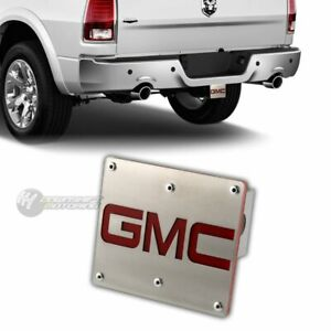 Gmc Logo Brushed Stainless Steel Hitch Cover Plug For 2 Trailer Tow Receiver