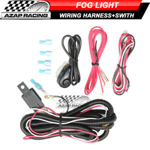 Universal Fog Lamp Led Light Bar Wiring Harness Kit 40a 12v Switch Relay Fuse
