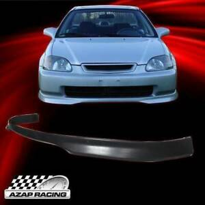 1996 1998 Black Type R Pp Front Bumper Lip Spoiler Bodykit Fit Honda Civic