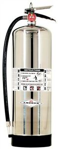New 2018 Amerex 2 5 Gallon Water Fire Extinguisher With Schrader Valve