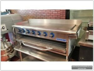 Rankin delux Countertop 48 in Gas Griddle broiler W cheese Melter open Box