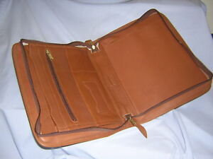 Vintage Crump Leather Portfolio Padfolio Professional Executive Business